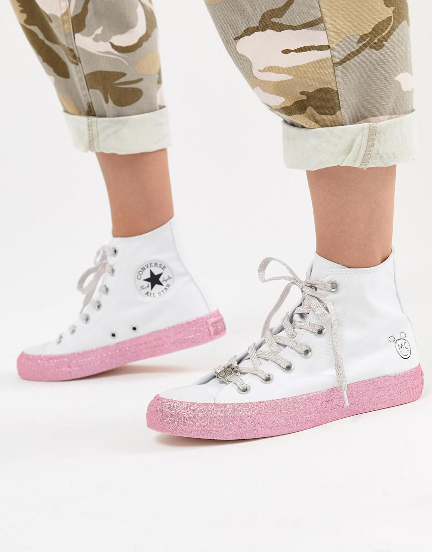 a9c187b71298 Lyst - Converse X Miley Cyrus Chuck Taylor All Star Hi Sneakers In ...