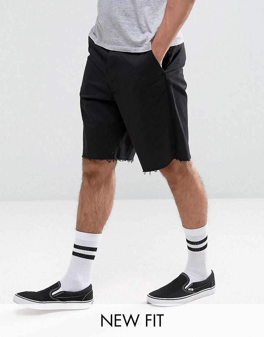 SKATER Shorts With Raw Edge In Black - Black Asos Clearance With Paypal Clearance Amazing Price WHYmK