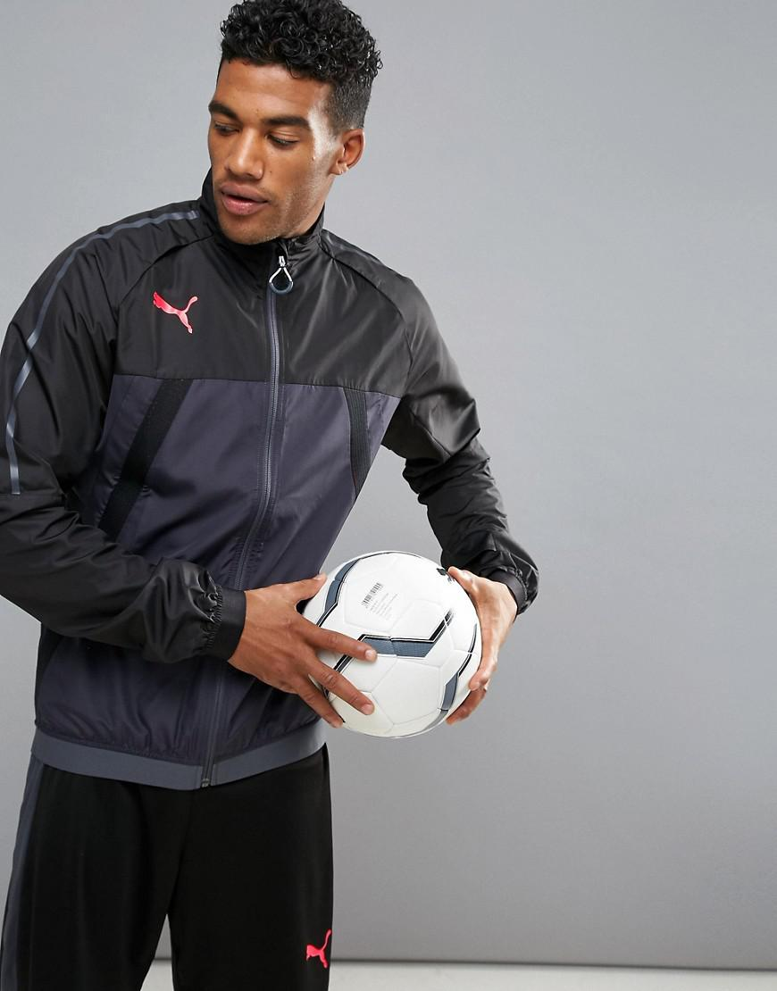 Lyst - PUMA Football Evotrg Thermo Training Jacket In Black 65532506 ... 01fb9f3987