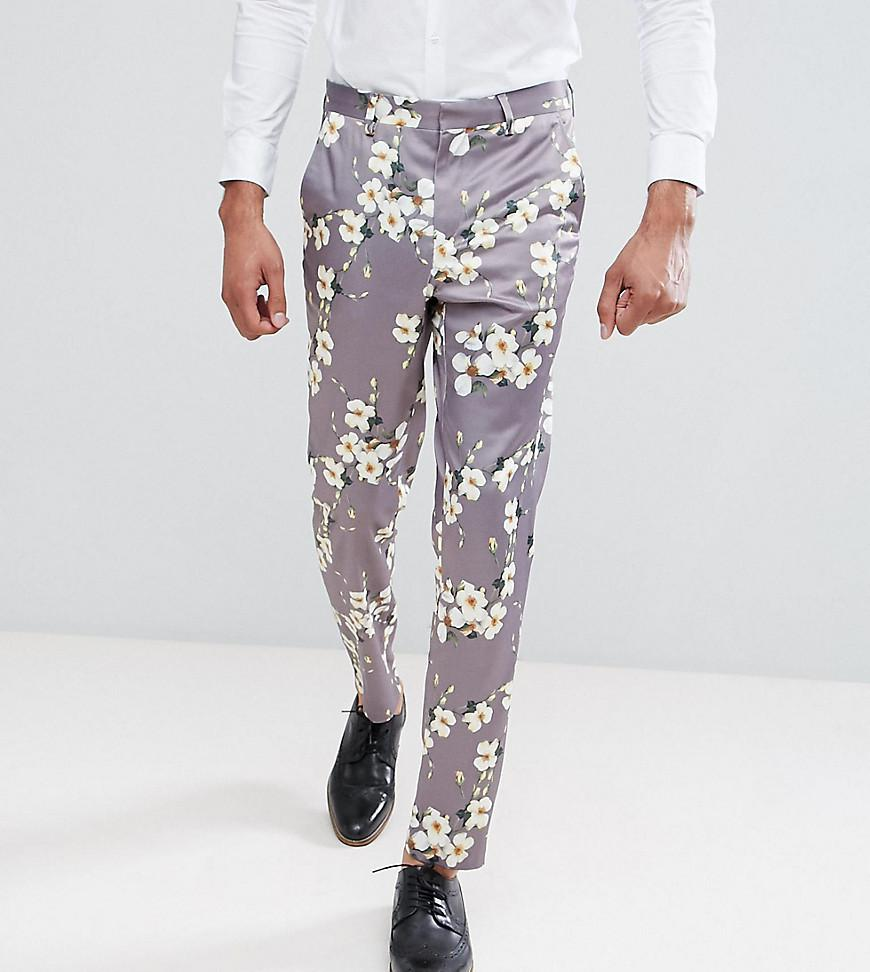 TALL Wedding Skinny Crop Smart Trousers In Pink Floral Print - Pink Asos Buy Cheap Excellent Pre Order Sale Online Buy Cheap Low Cost louJr3f