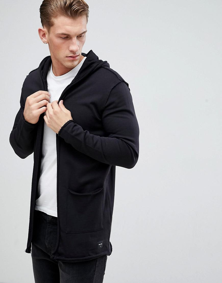 Open Drape Hoodie - Black Only & Sons Clearance Original Outlet Shop Offer Classic For Sale 8yDwyLtSm