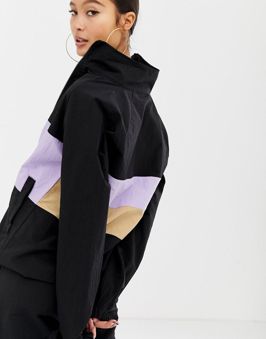 7c7c6cd7e293 Lyst - Collusion Track Jacket With Contrast Panel in Black