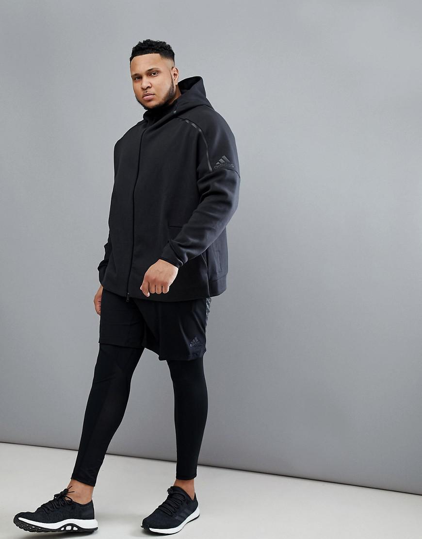 de897cbc28645 Lyst - adidas Plus Zne 2 Hoodie In Black Bq6925 in Black for Men
