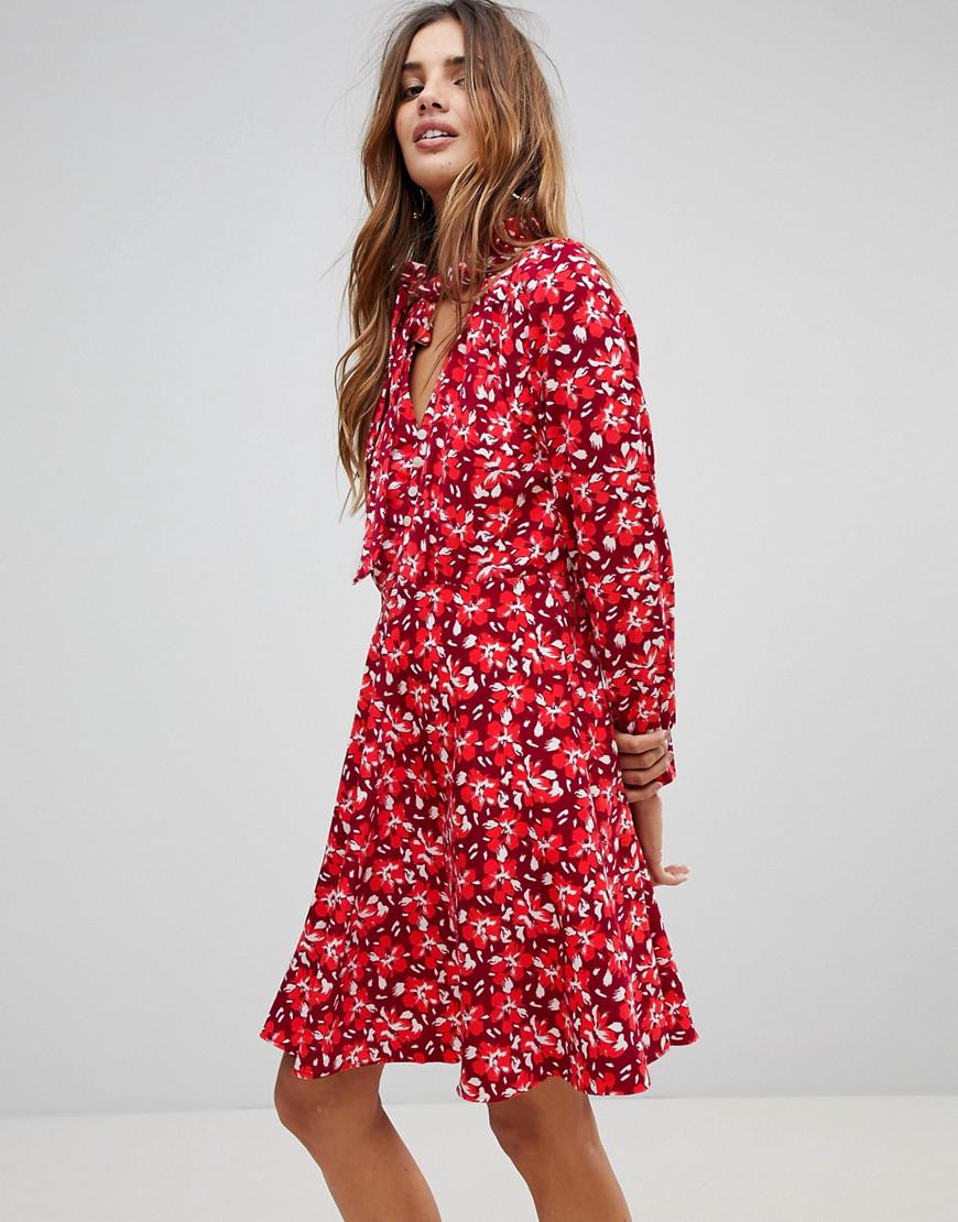 Trollied Dolly Floral Dress With Scarf Shop Cheap Online New Lower Prices 6IduLMgTW