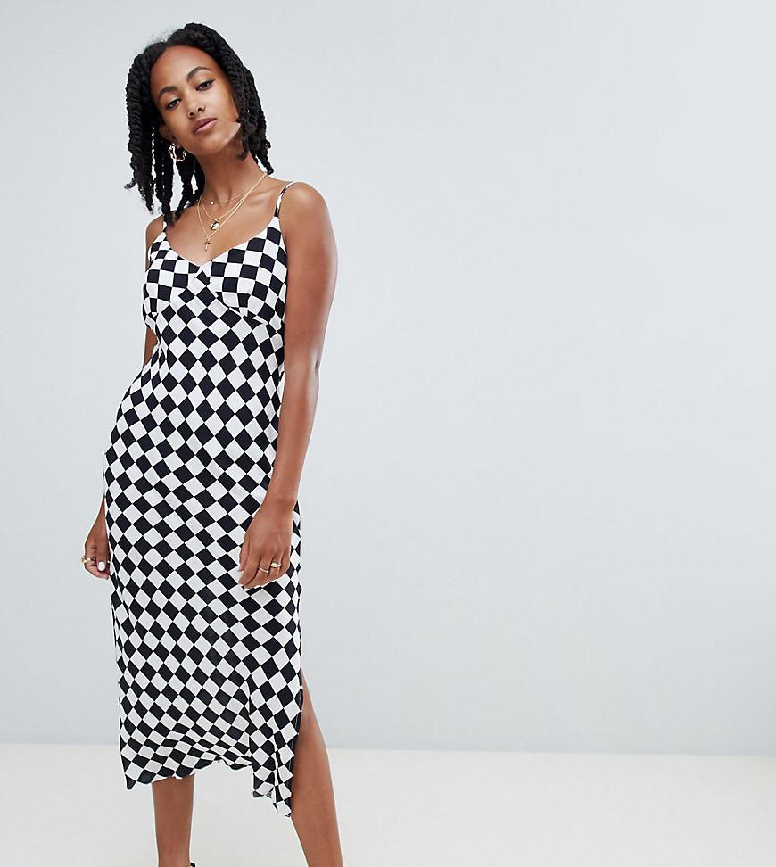 759645412177 Reclaimed (vintage) Inspired Bias Cut Midi Dress In Check Print - Lyst