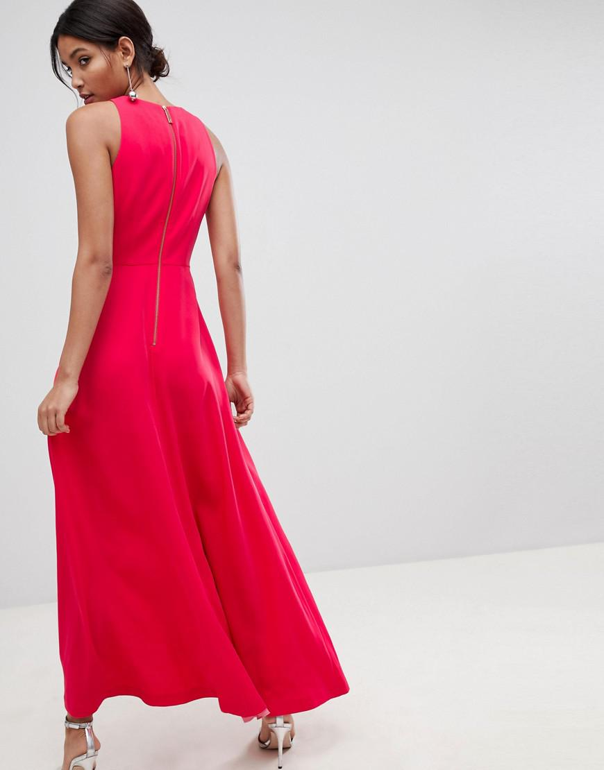 6390335e324d75 Lyst - Ted Baker Madizon Maxi Dress in Pink