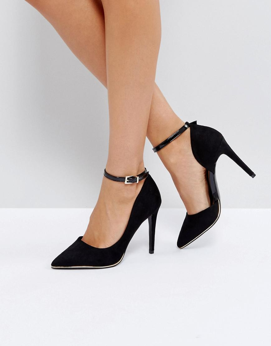 2a68b6d2144 Lyst - Call It Spring Exerina Black Pointed Court Shoes in Black