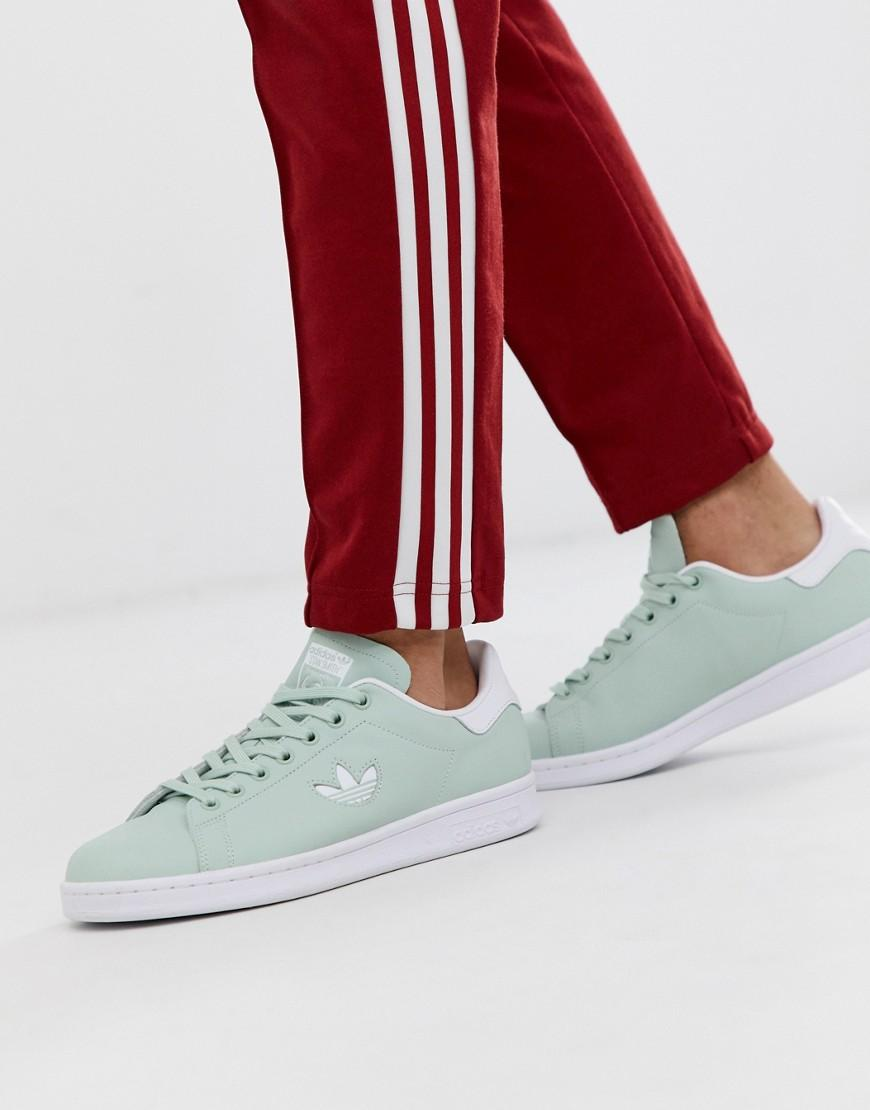 c9318af41 adidas Originals Stan Smith With Trefoil Logo In Mint in Green for ...