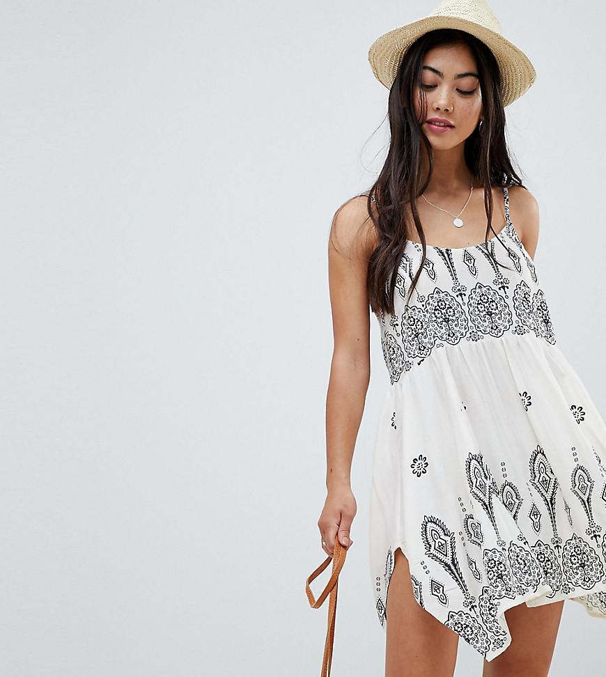 c191bf2fd840 ASOS. Women s Asos Design Petite Bandana Print Placement Hanky Hem Beach  Dress