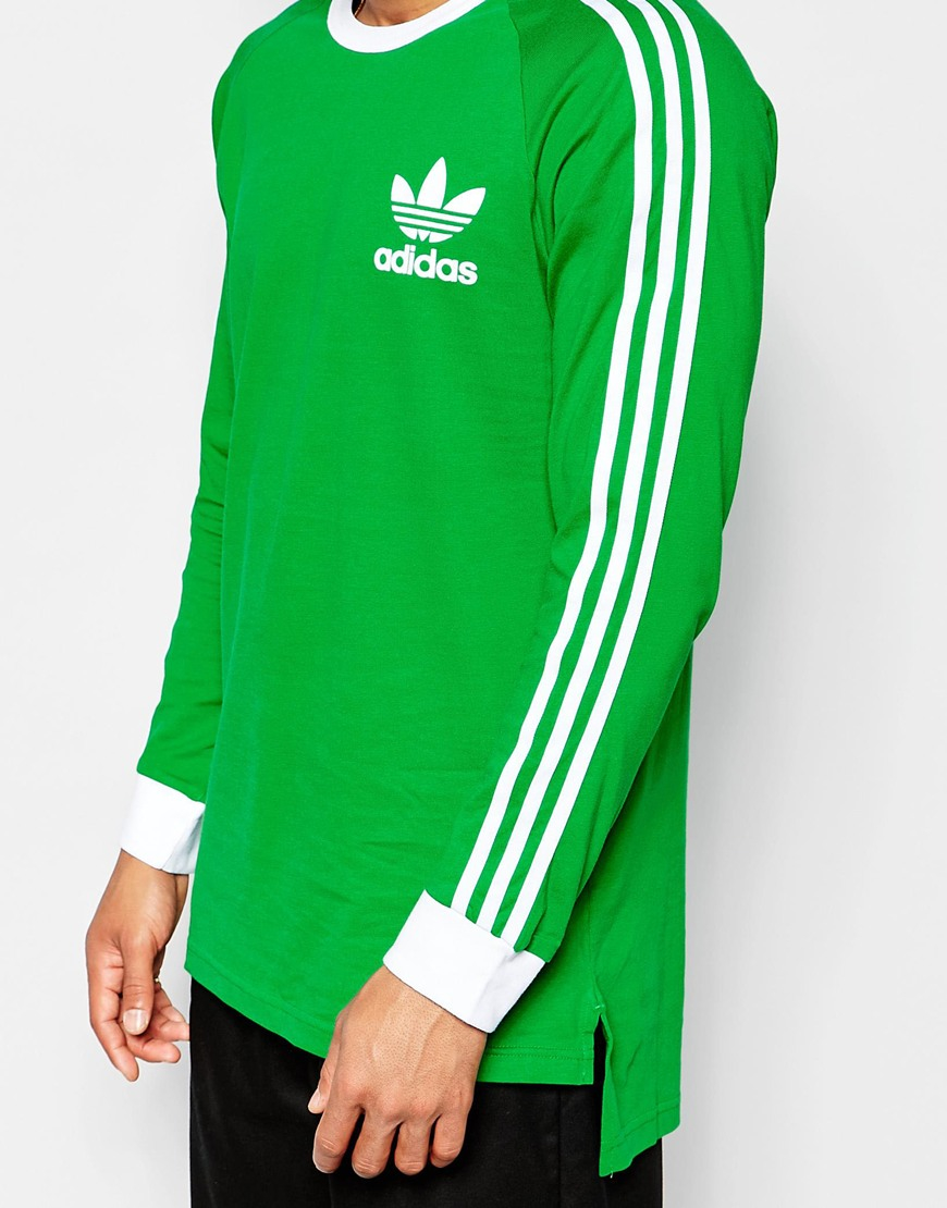 lyst adidas originals adicolor long sleeve t shirt in