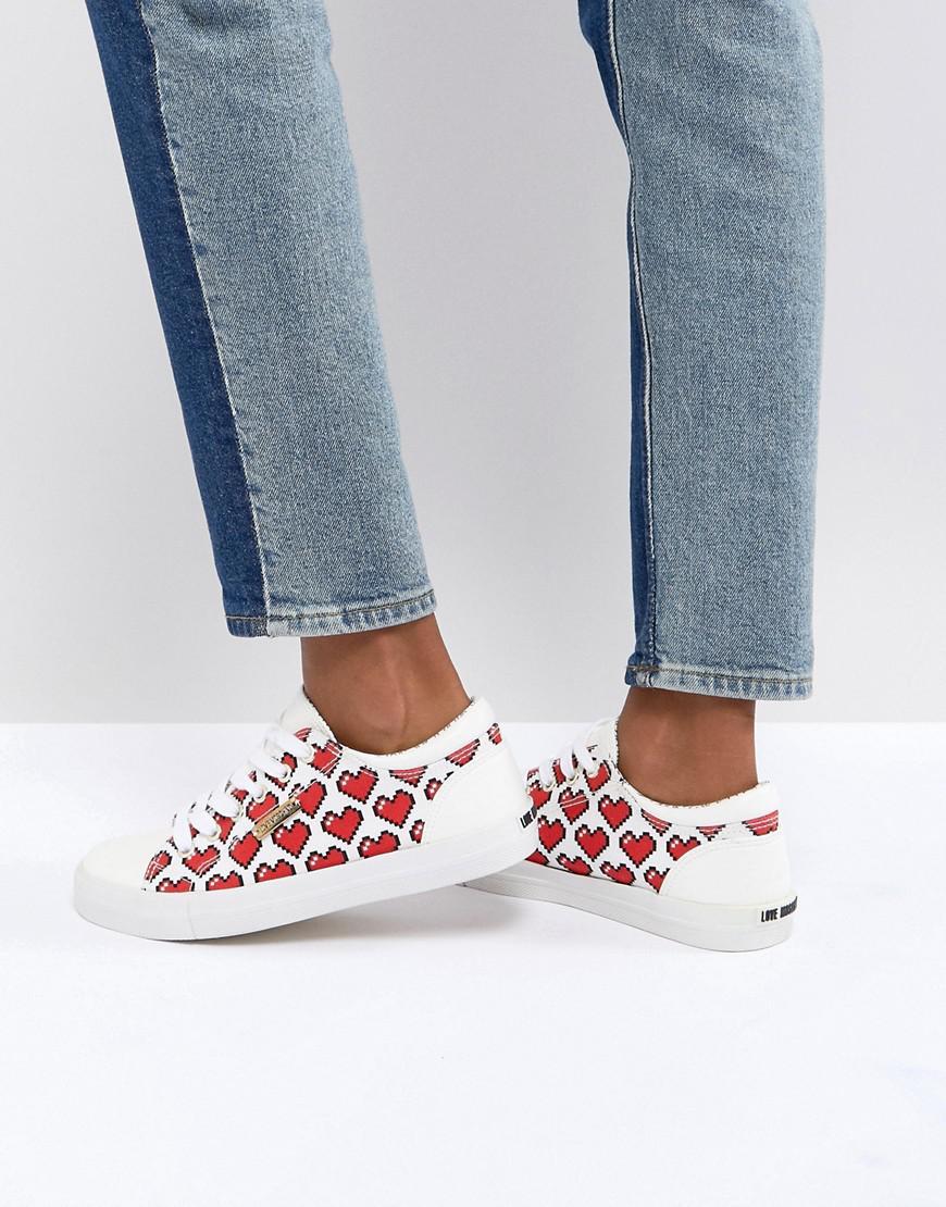 Moschino Pixel Heart Pump Sneaker uUnu1eM