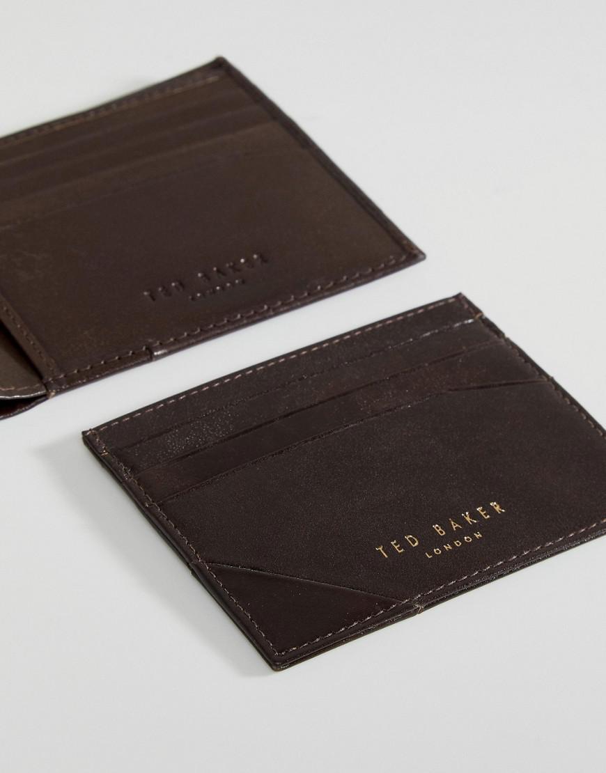 1fd01f1c928287 Lyst - Ted Baker Twixxle Wallet   Cardholder Gift Set in Brown for Men