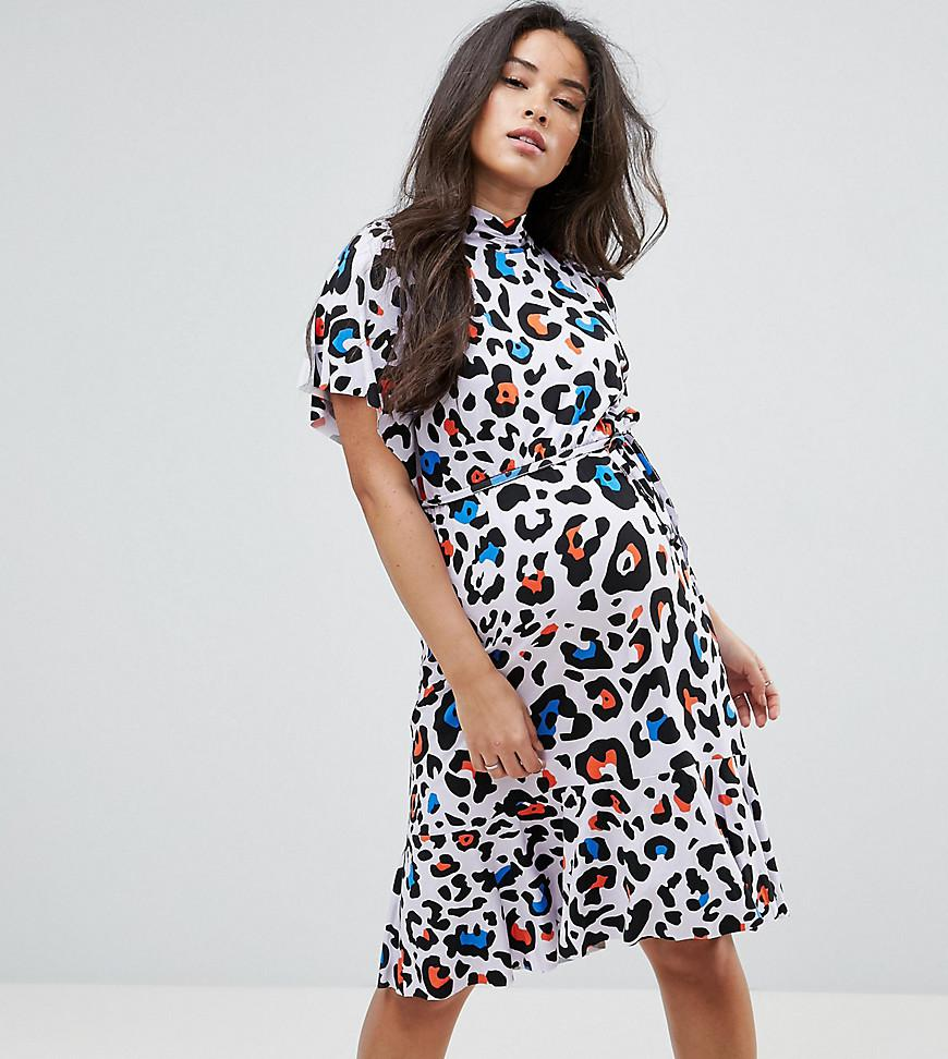 6ca96f14f51ef Lyst - ASOS Coloured Animal Print Dress