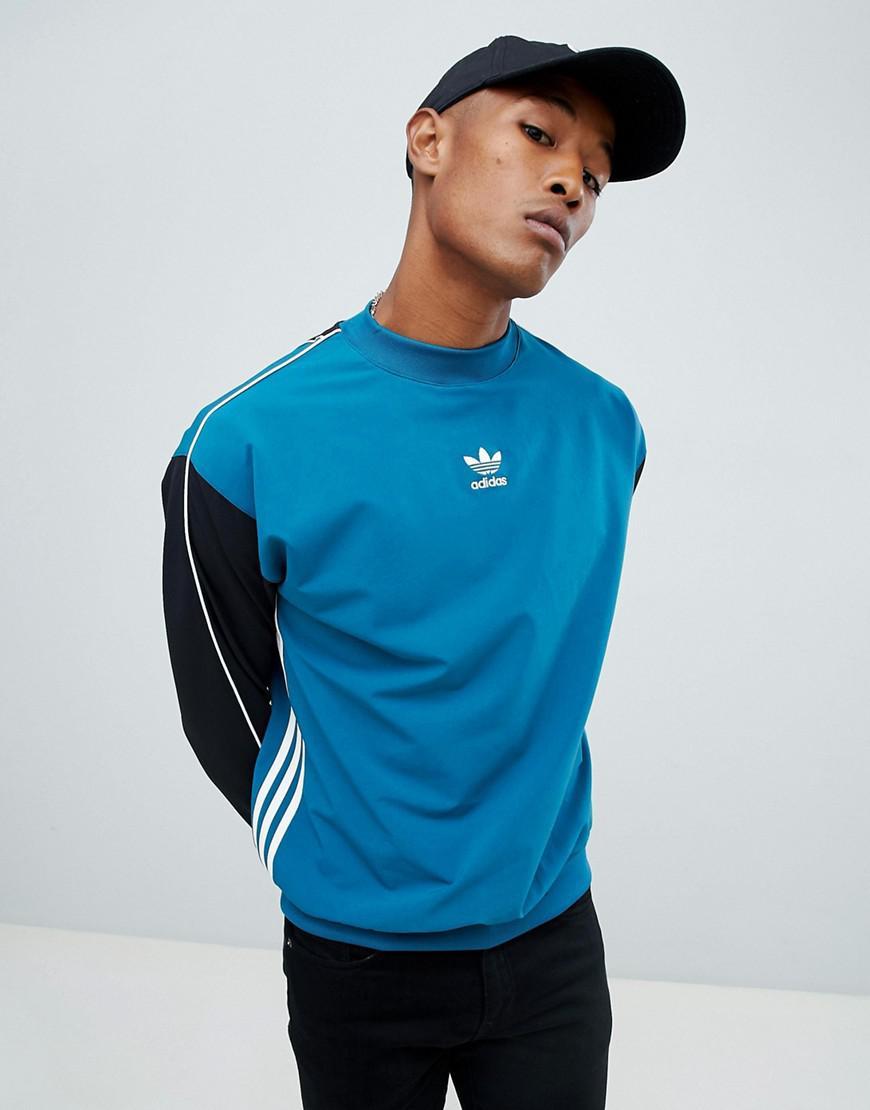 c2c4c21d27e adidas Originals Authentic Stripe Sweat In Blue Dh3835 in Blue for ...