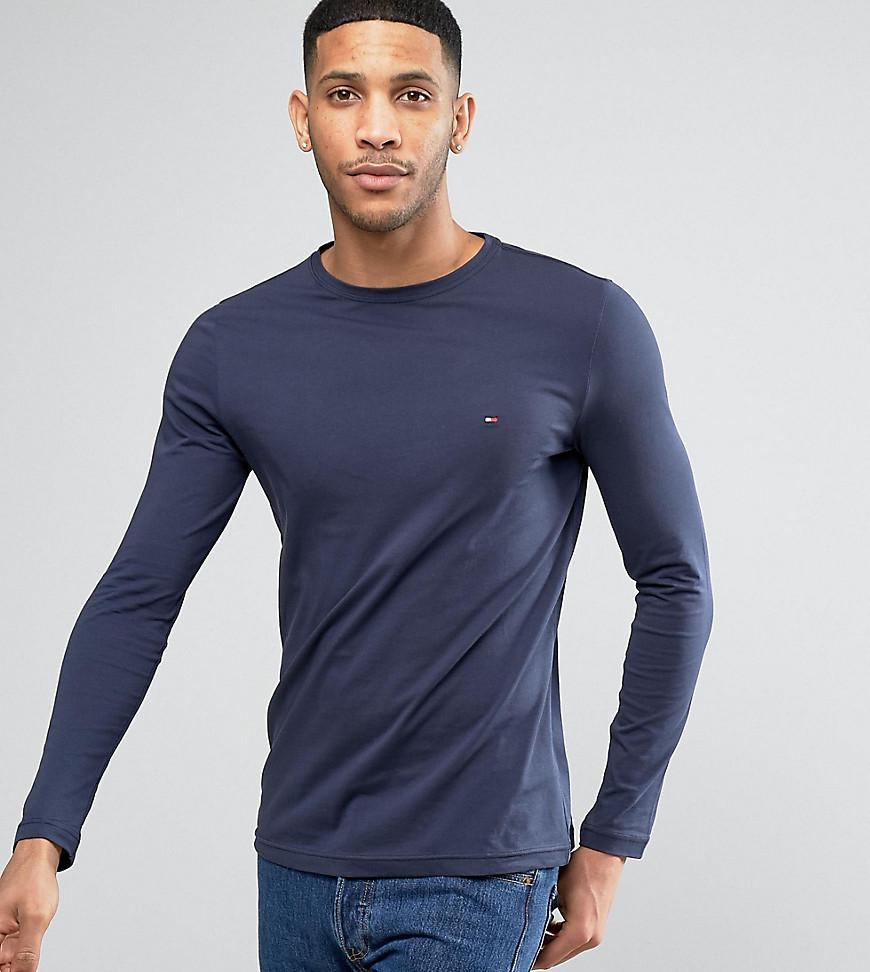 6e6cf40e3d24 Tommy Hilfiger. Men s Blue Long Sleeve Top Flag Logo In Navy Exclusive At  Asos