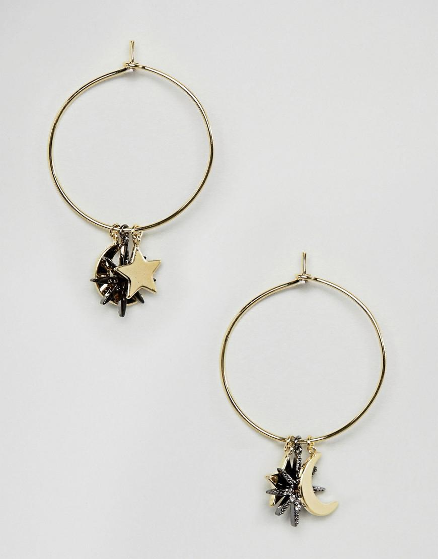 Statement Multi Star Drop Earrings - Crystal Orelia HSrEZn8nJT