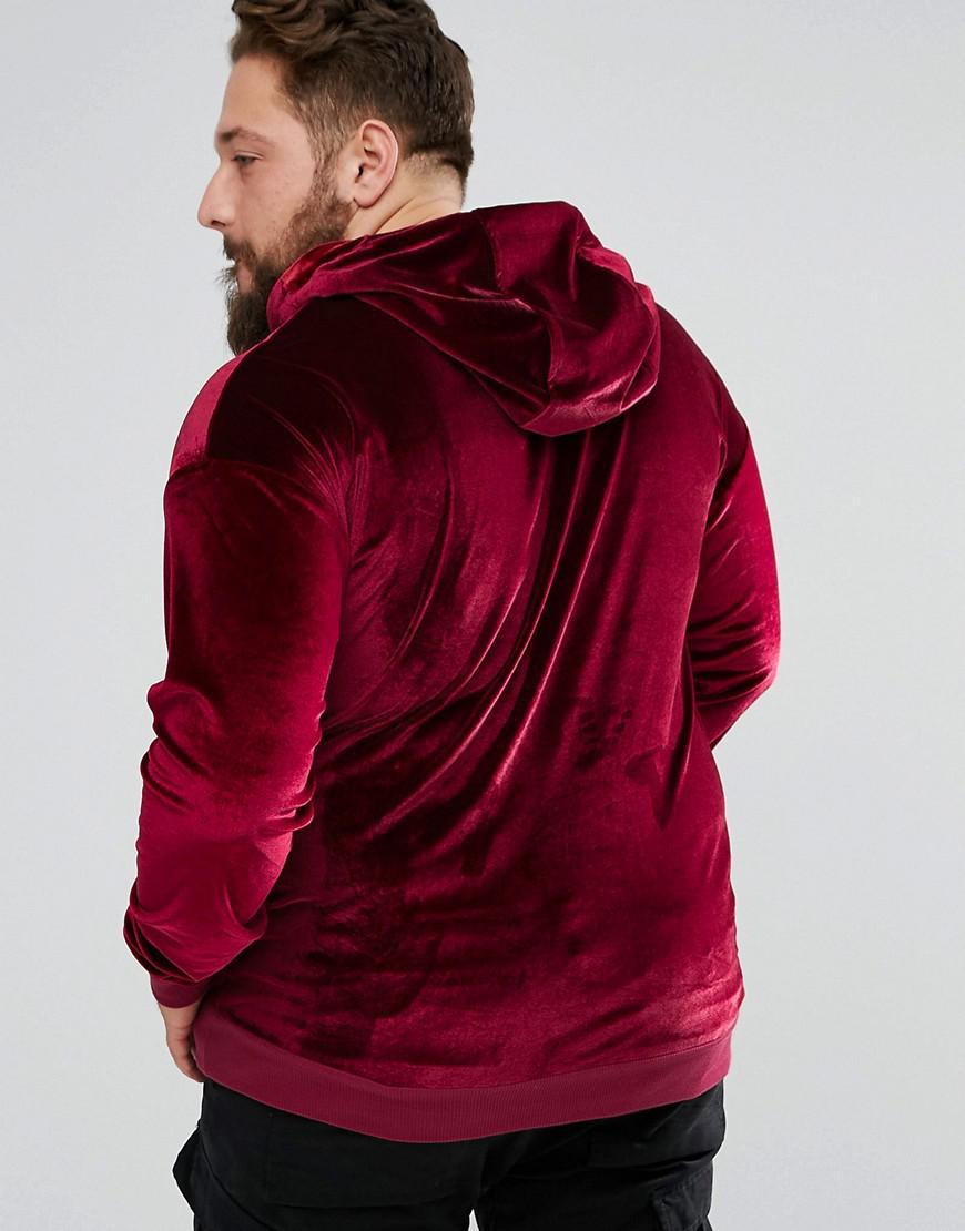 a7ceb1f967f1d Lyst - Hoodie en velours Sixth June pour homme en coloris Rouge