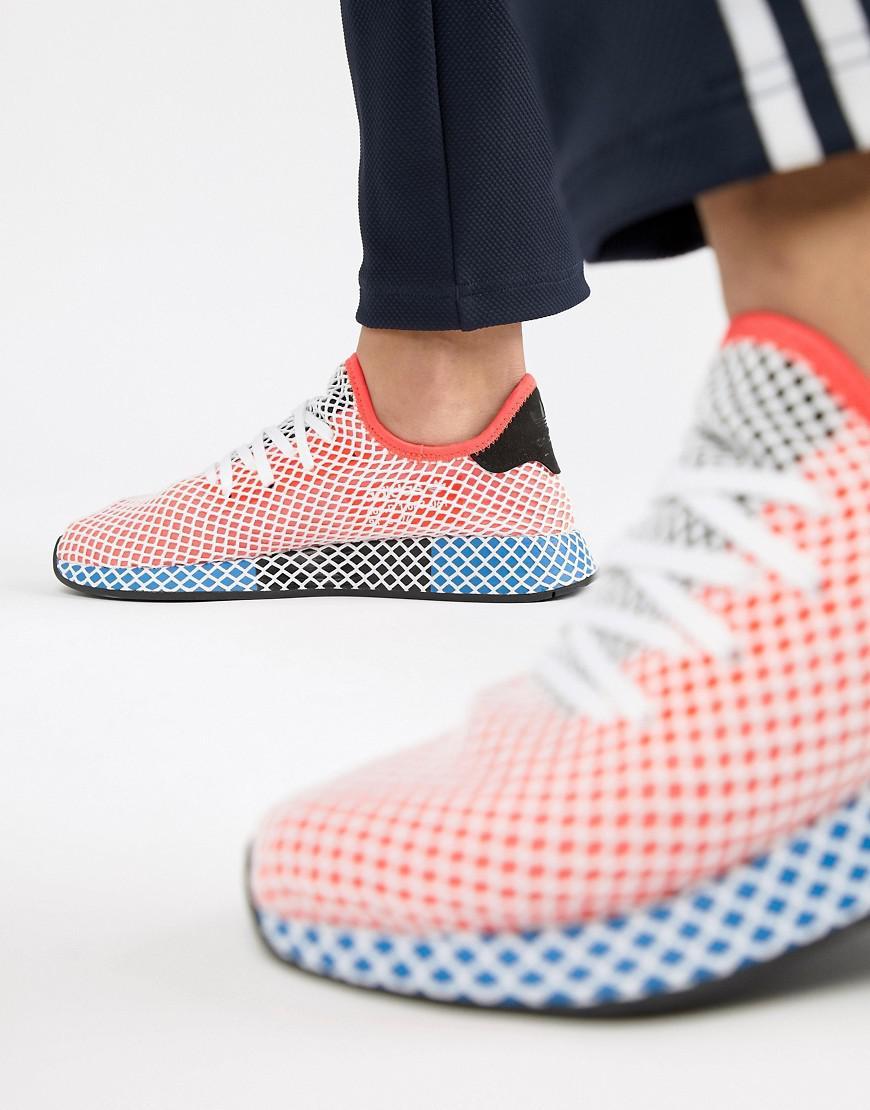 Deerupt Runner Trainers In Pink And Red - Pink adidas Originals sILqkUwC