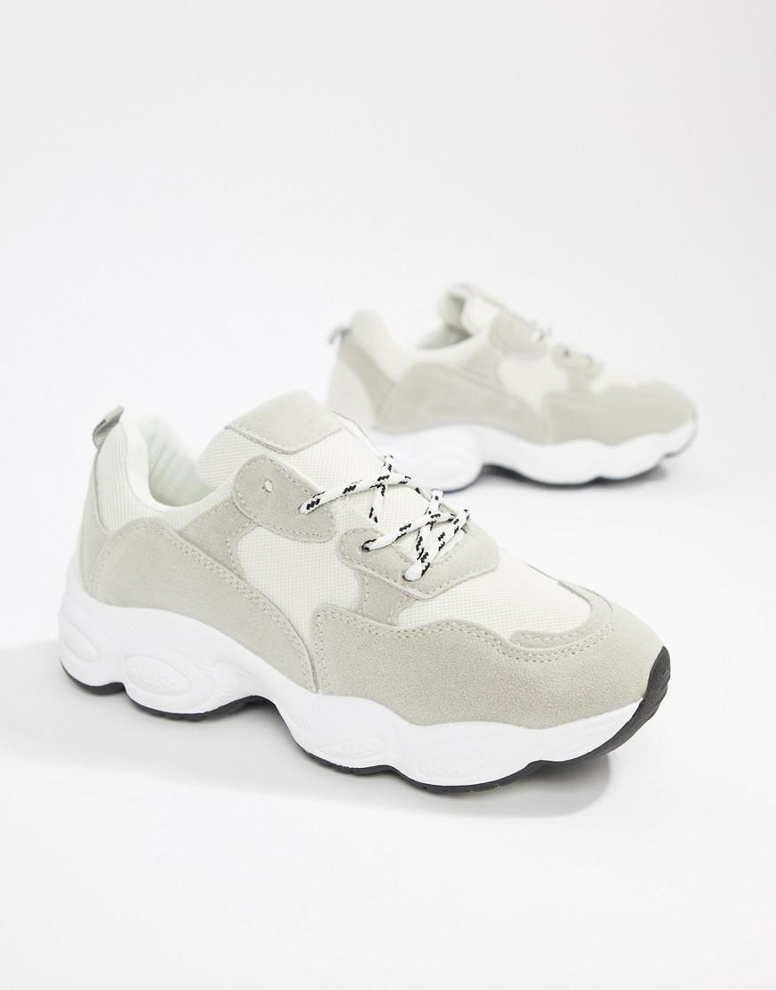 f8efed1c5 Lyst - Public Desire Wolf White And Gray Mix Chunky Sneakers in White