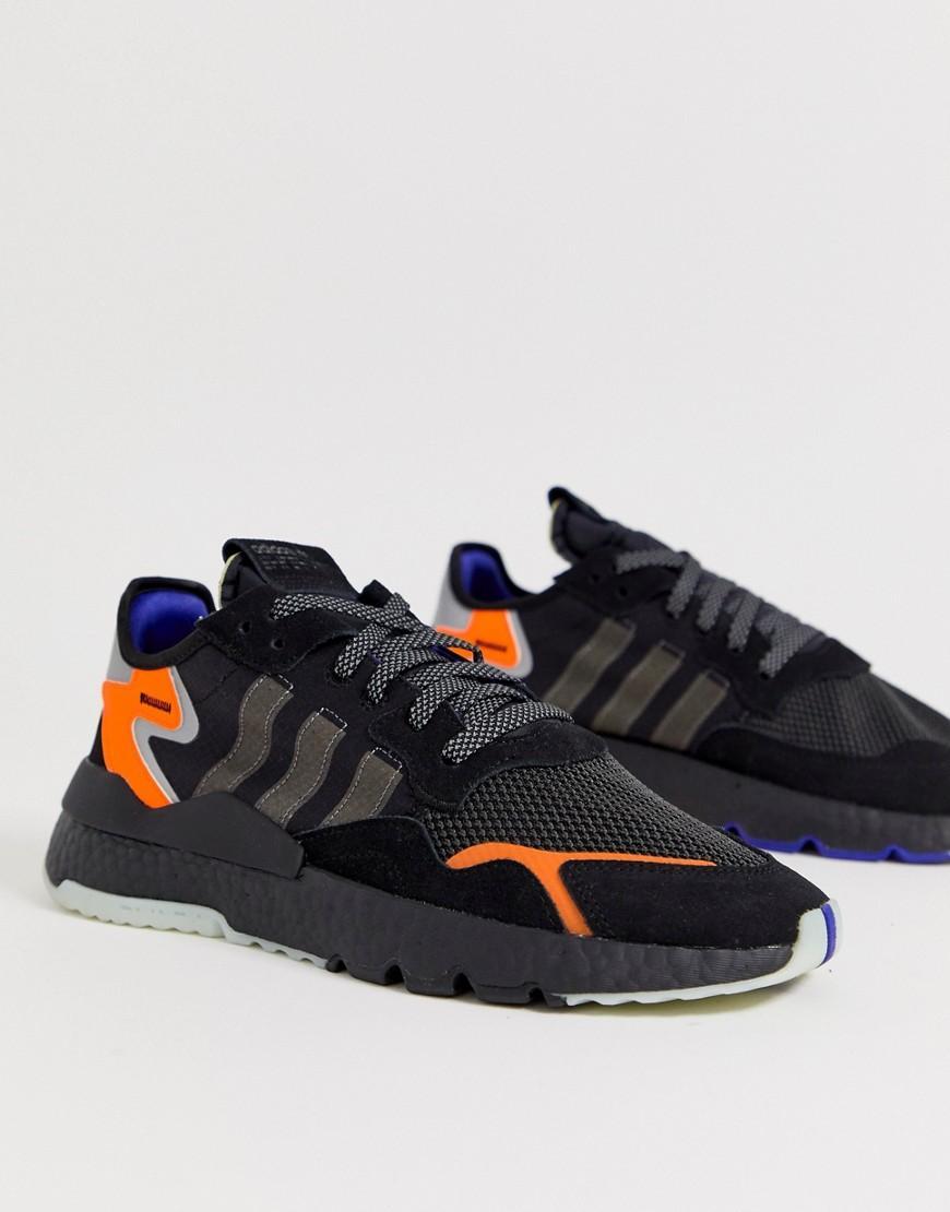 sneakers for cheap d1aa7 ea74f adidas Originals. Mens White Nite Jogger Sneakers In Black Cg7088