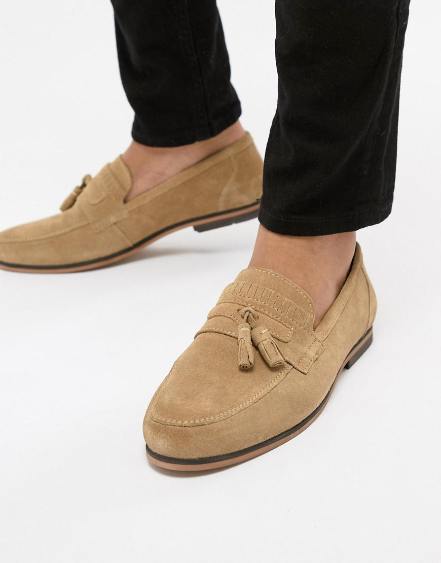 ASOS DESIGN monk shoes in suede with stitch detail