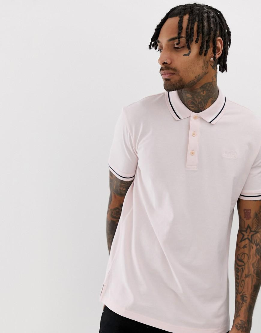 9f34928ff HUGO Daruso-u1 Tipped Polo In Pink in Pink for Men - Lyst
