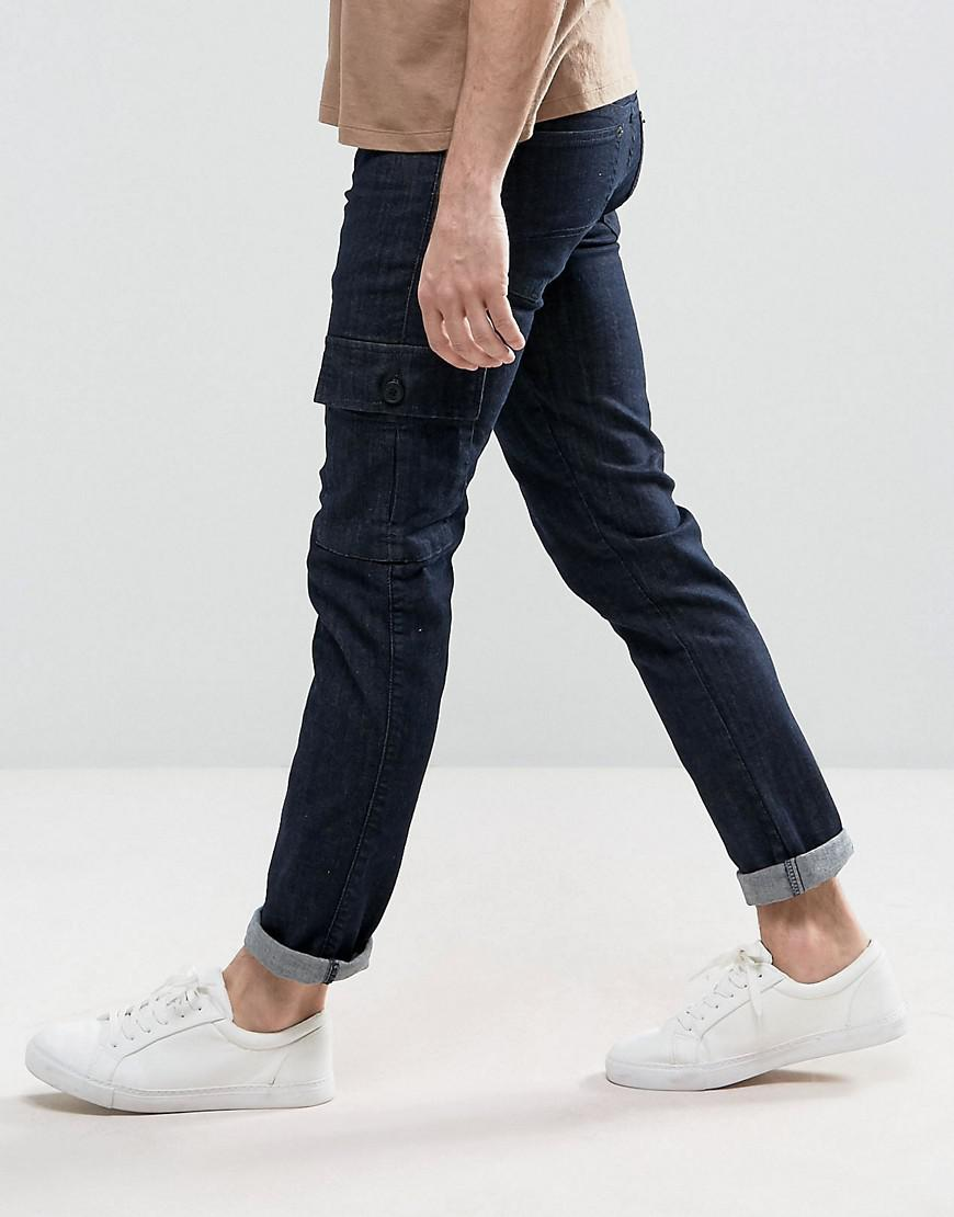 Loyalty and Faith Tapered Cargo Pants Trousers in Indigo Wash - Blue Loyalty & Faith 4NmxmGGdbW