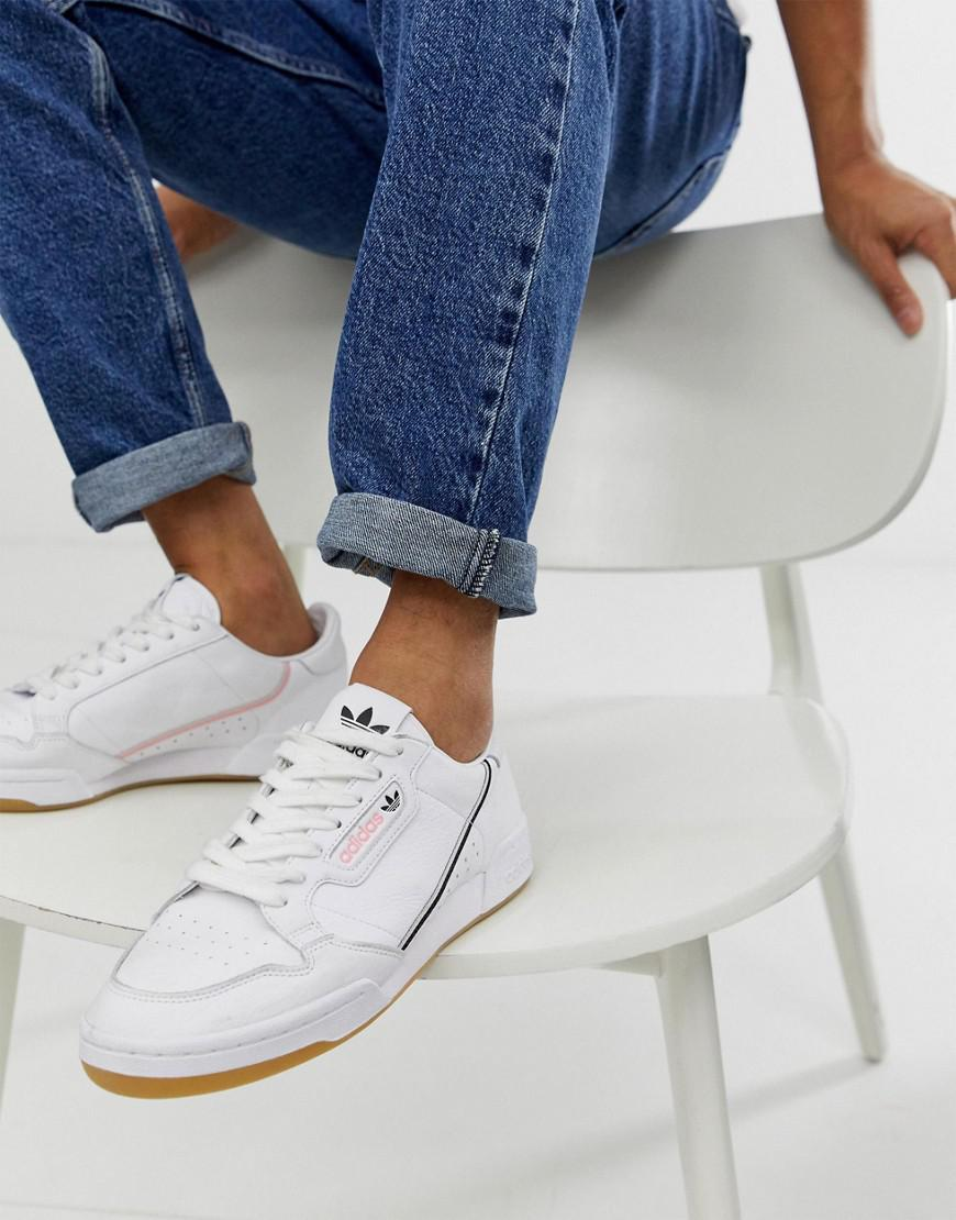 competitive price dd560 f8e4c adidas Originals. Men s Continental 80 s Tfl Northern Hammersmith Line  Trainers In White