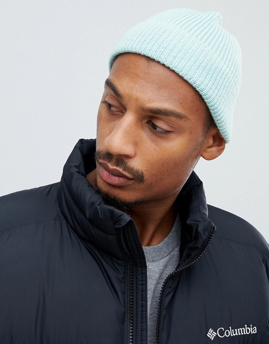 7fb34d429cb Lyst - ASOS Fisherman Beanie In Sage Green Recycled Polyester in ...