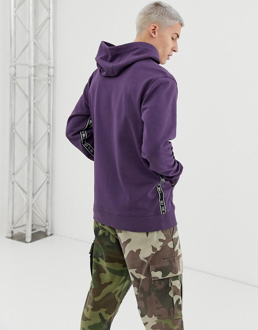 016c3ee7f566 Vans Reverse Taping Hoodie In Purple in Black for Men - Lyst