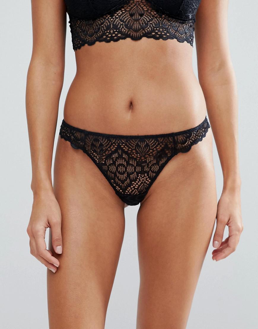 Latest Sale Genuine DESIGN Rita basic lace mix & match thong - Deep red Asos Buy Newest Buy Cheap 2018 5NEKdE