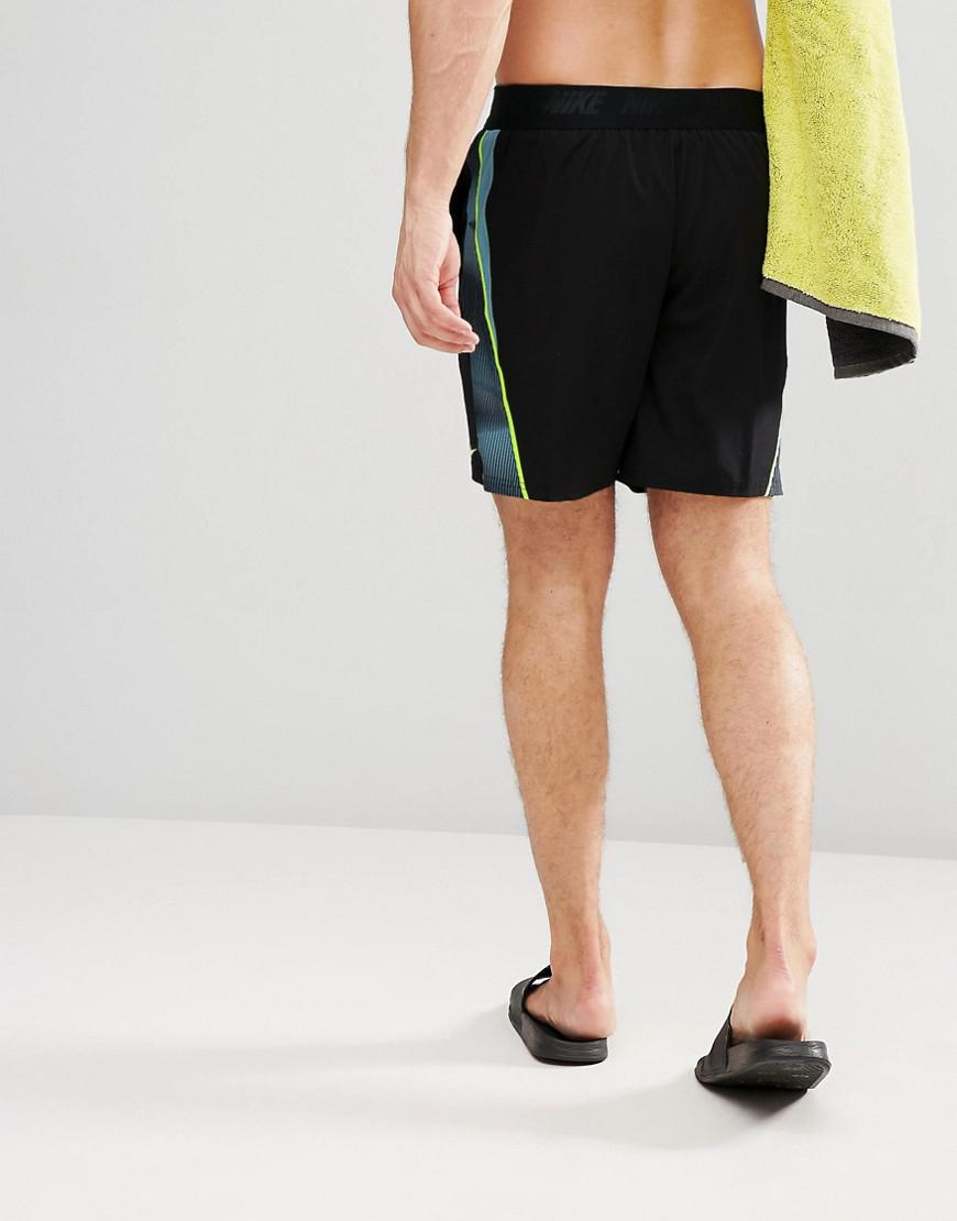 8285cbf697 Nike Swim Short in Black for Men - Lyst