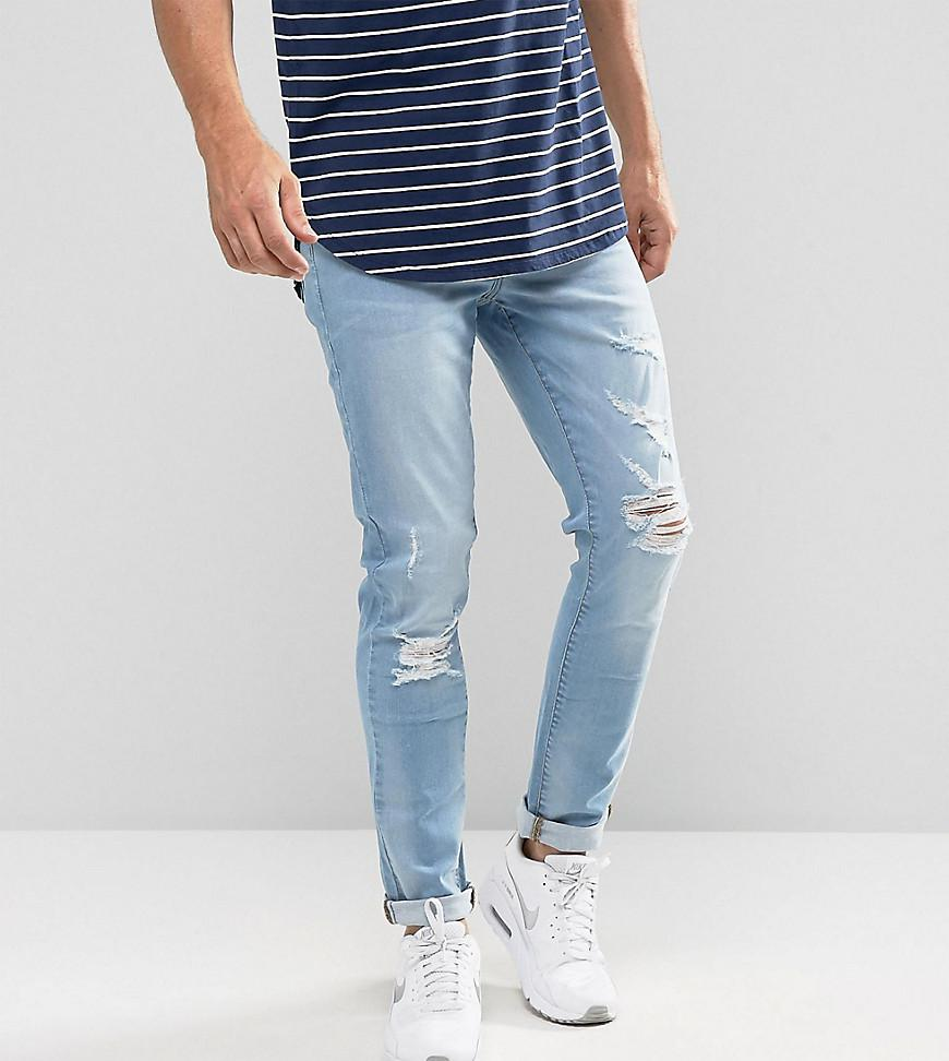 Brooklyn Supply Co Light Wash Jeans in Skinny Fit - Midwash / blue Brooklyn Supply Co. UBQ5mod2WB