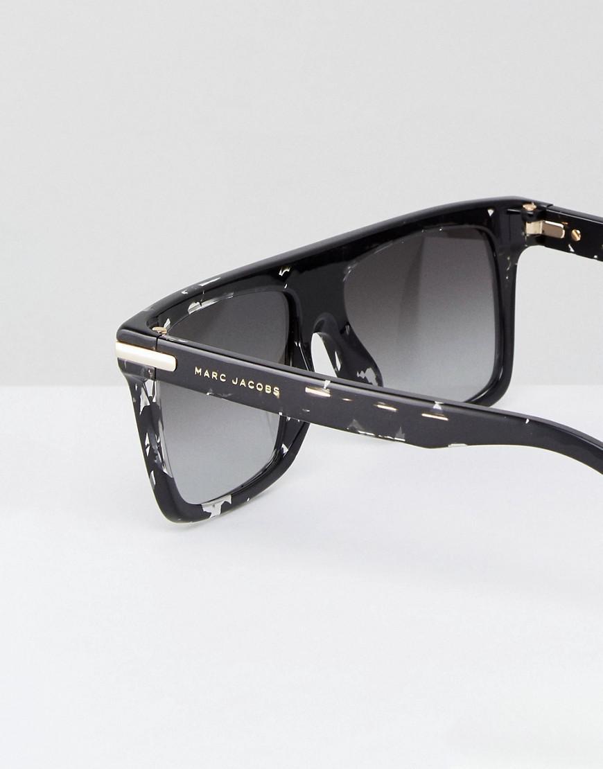 color y de Negro lentes de sol de Lentes con cuadrada Marc salpicaduras Jacobs acabado montura con qwXw8xgU