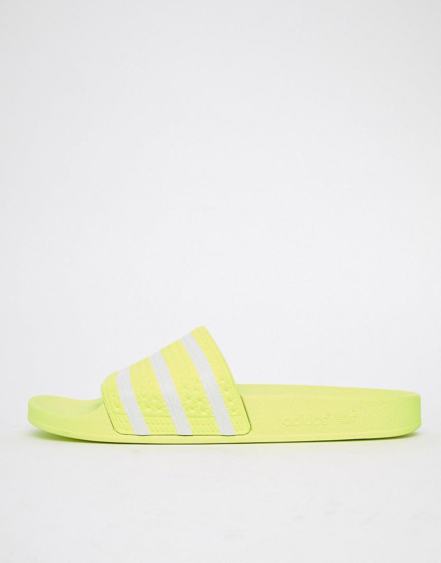 b0277384f45036 Adidas Originals - Adilette Sliders In Yellow B37957 for Men - Lyst. View  fullscreen