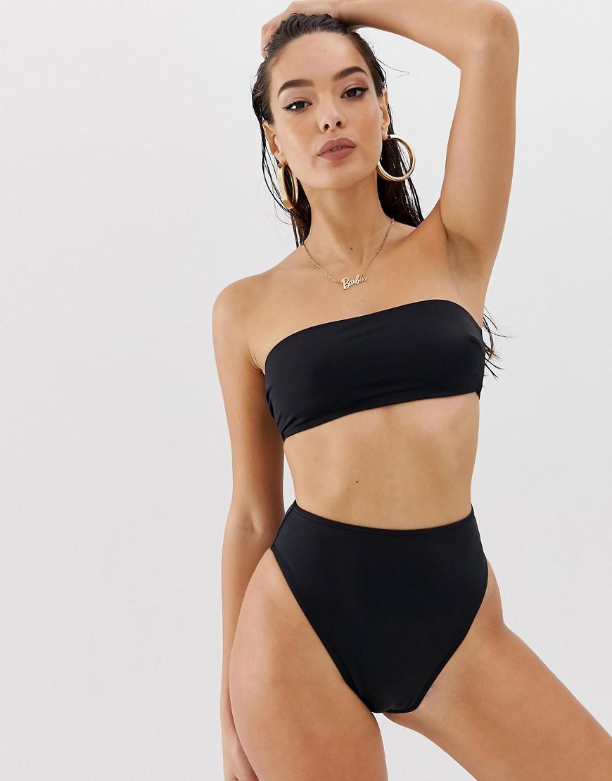 f176d53585 ASOS. Women s Black Recycled Mix And Match High Leg High Waist Bikini Bottom