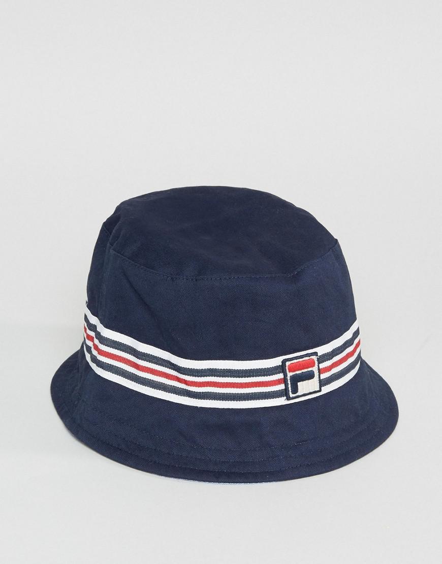 02953ef34ad Fila Vintage Legion Bucket Hat In Navy in Blue for Men - Lyst