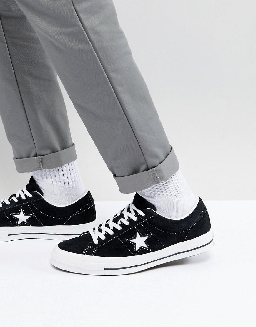 8476adbd7f466c Converse One Star Ox Sneakers In Black 158369c in Black for Men ...