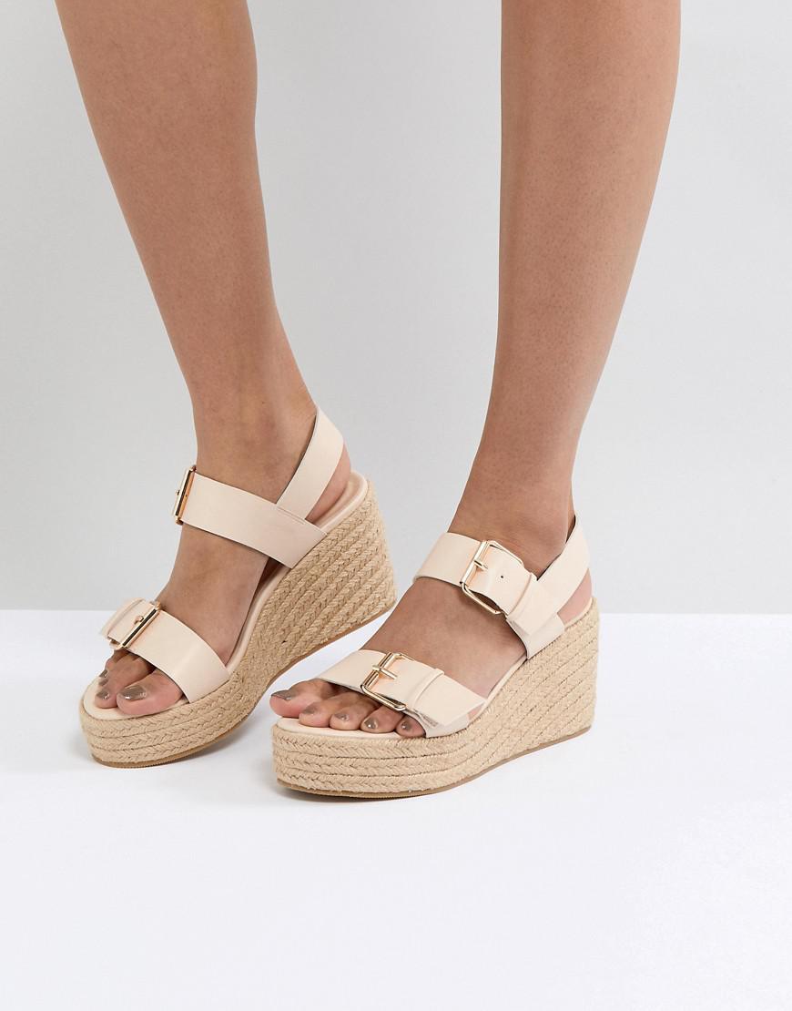 London Sandale Compensée Rebelle Boucle - Tan YmukA1N