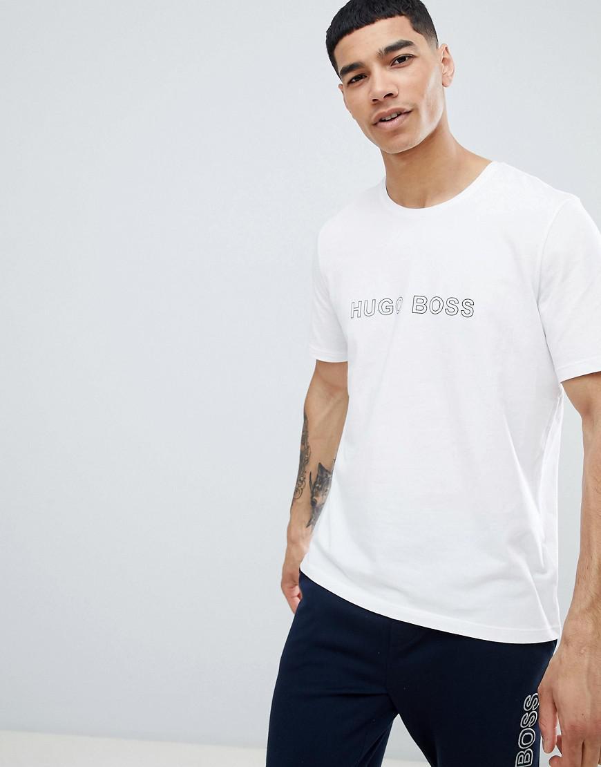 27344e2d8 BOSS Identity Bodywear Logo T-shirt in White for Men - Lyst
