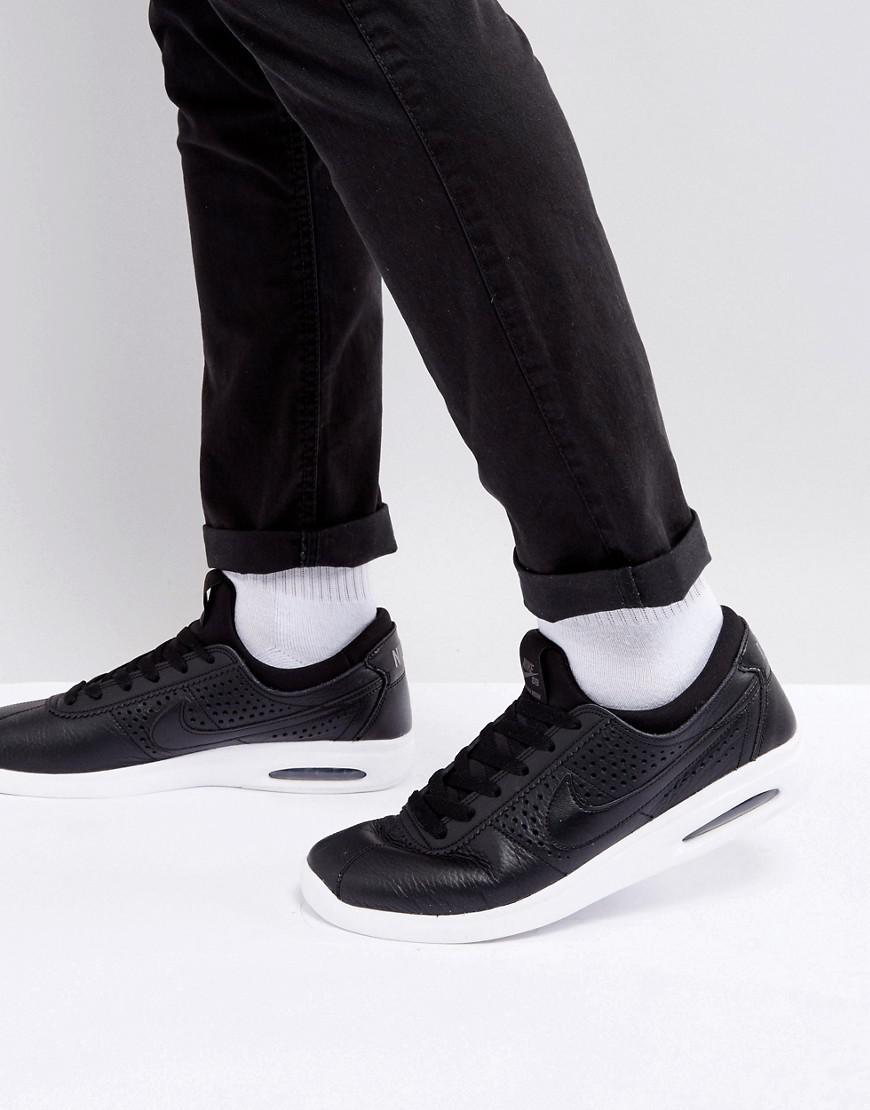3298af80c8 Nike Bruin Max Vapor Leather Trainers In Black 923111-001 in Black ...