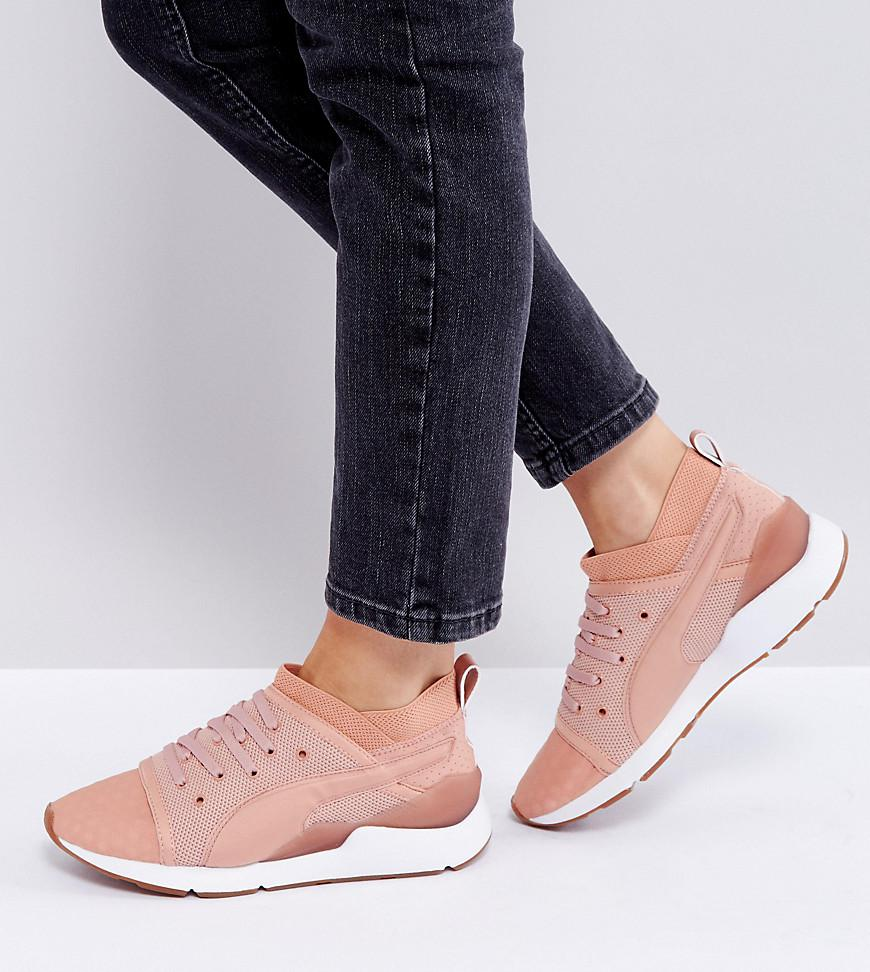 d365801ee0e9 Lyst - PUMA Pearl Lace Up Sneakers In Pink in Pink