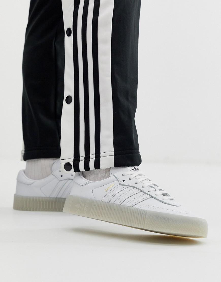 450bbad9b91 adidas Originals Samba Rose Sneakers In Triple White in White - Lyst