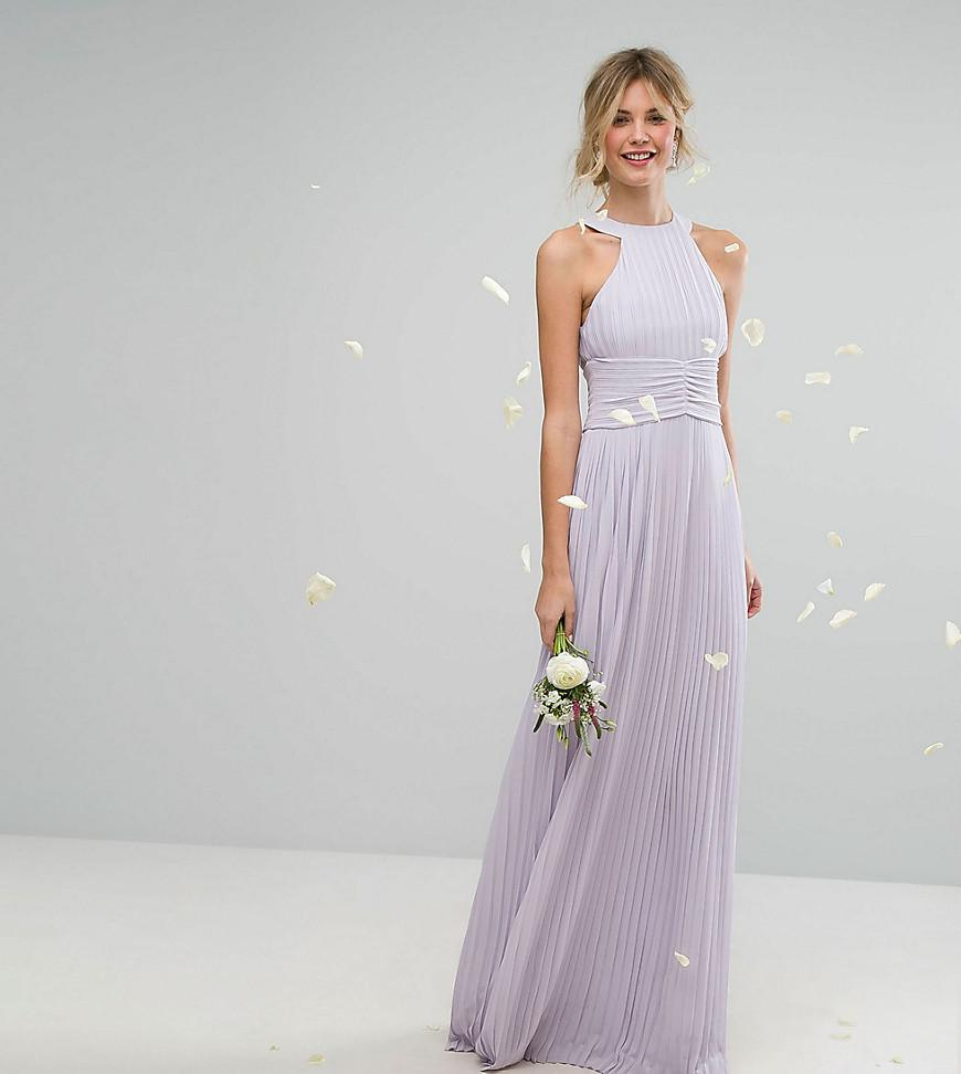 3fabbcebce0 Tfnc High Neck Pleated Maxi Bridesmaid Dress