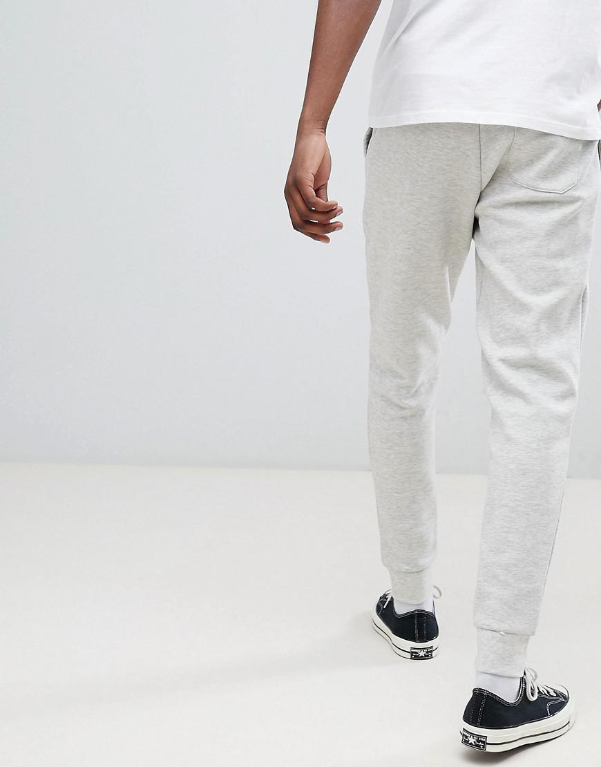 Lyst - Pantalon de jogging resserr aux chevilles coupe slim avec logo  joueur de polo Polo Ralph Lauren pour homme en coloris Gris 890cc2d6df23
