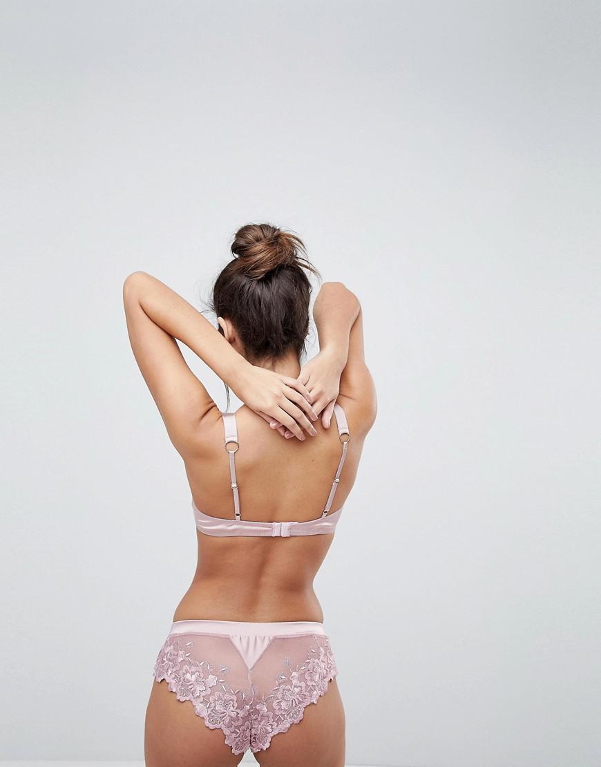 ad8dfd38e321b Lyst - ASOS Alexa Applique Lace Brazilian Pant in Pink