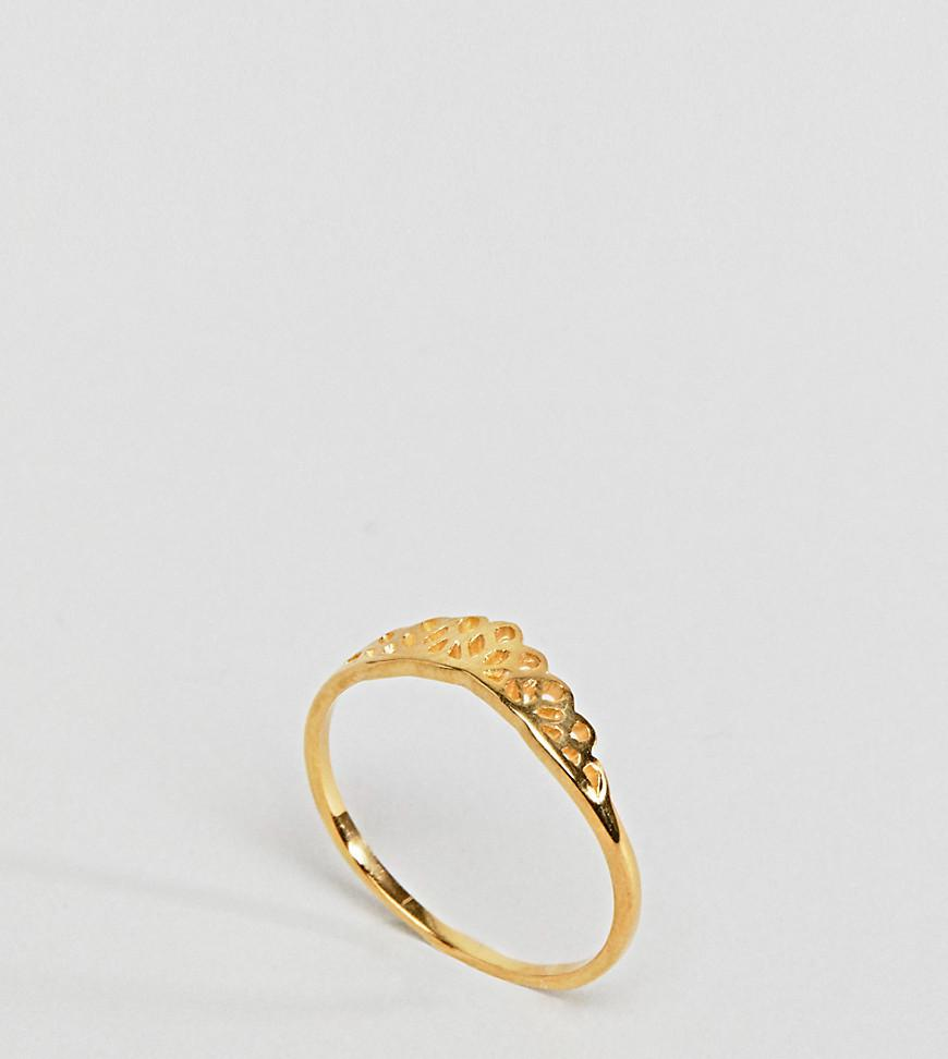 Asos Curve Gold Plated Sterling Silver Faceted Ring - Gold eBEATc