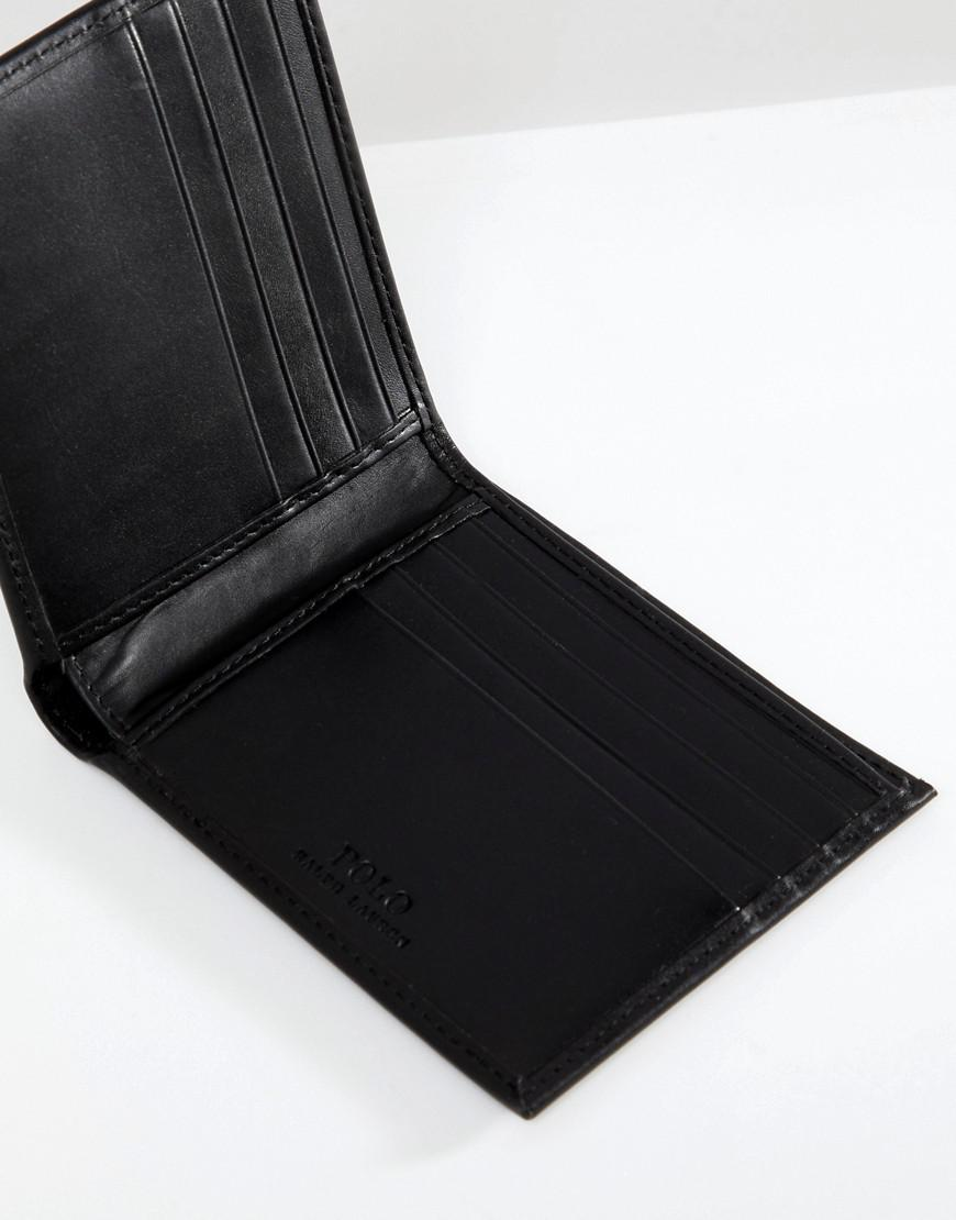 574e33405b3 Lyst - Portefeuille porte-billets classique en cuir Polo Ralph Lauren pour  homme en coloris Noir