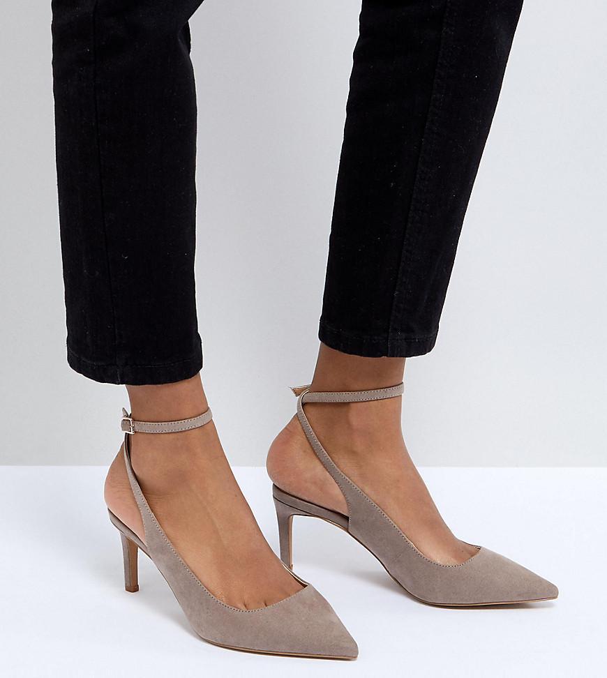 Asos Sabrina Mid Heels in Natural