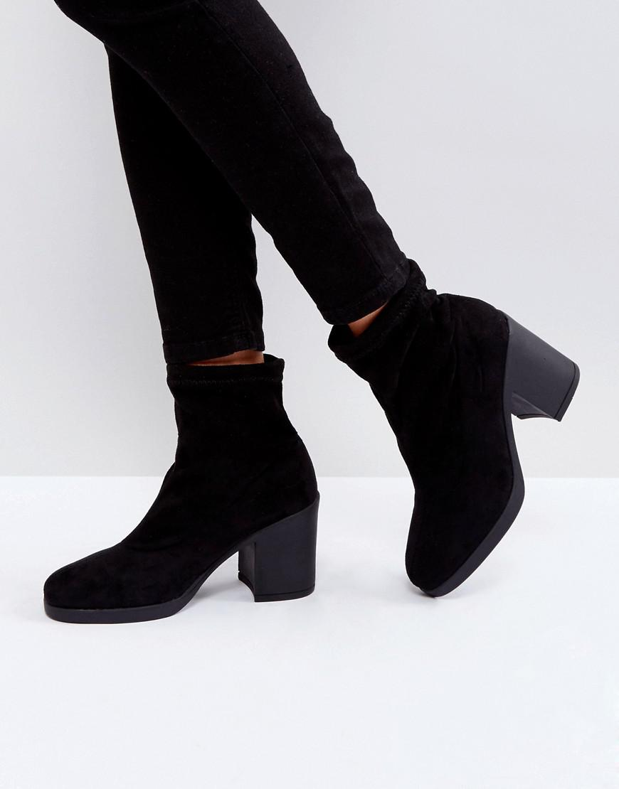 Truffle in Lyst Black Boot Collection 18 Save Chunky 75 Heel Sock pPxpTr